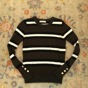 Olive stripe Zara sweater small